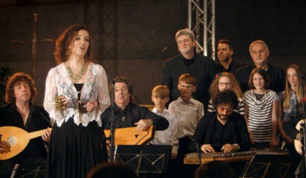 Gesang auf der Bühne